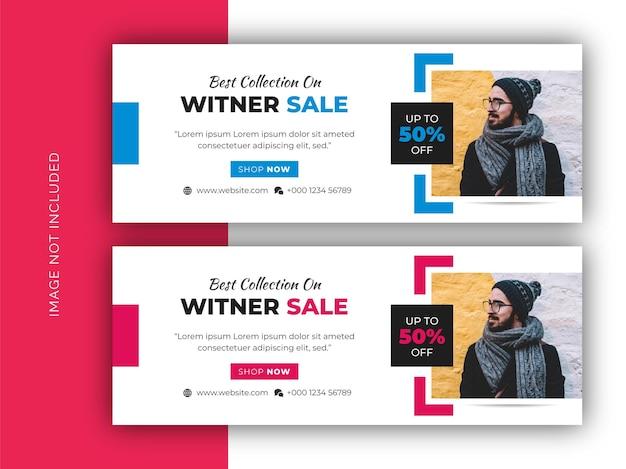 Fashion sale social media web-banner, flyer und facebook-cover-foto-design-vorlage