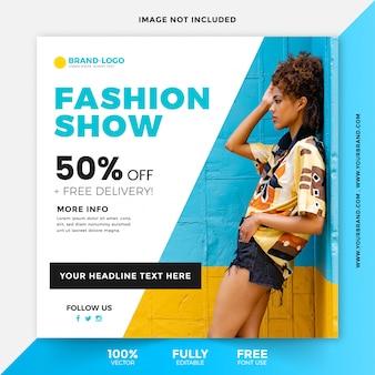Fashion sale square instagram beitragsvorlage