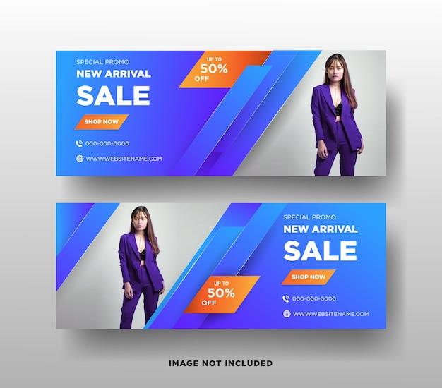 Fashion sales web banner vorlage