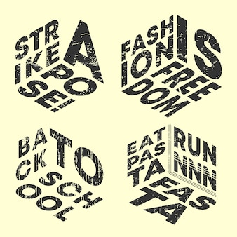 Fashion slogan t-shirt druck briefmarken gesetzt
