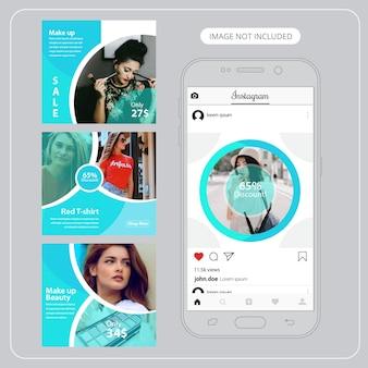 Fashion social media banner für digitales marketing