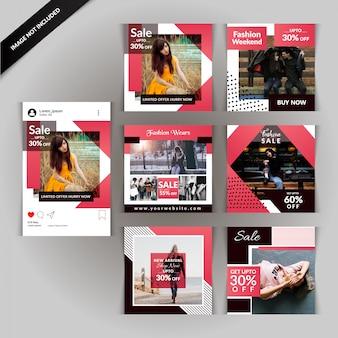 Fashion social media post für digitales marketing