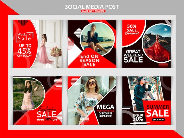 Fashion web banner für social media