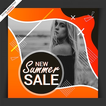 Fashion web banner social media beitrag