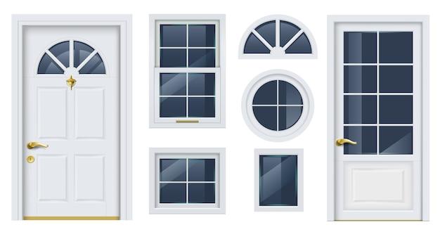 Fassadenvektorvorlagen.