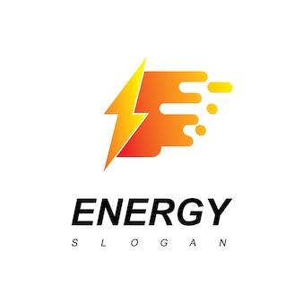 Fast bolt energy-logo Premium Vektoren