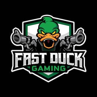 Fast duck gaming logo design