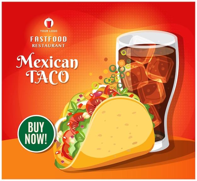 Fast-food-banner restaurant social media post