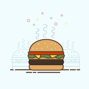 Fast-food-burger