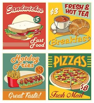 Fast-food-design im retro-stil