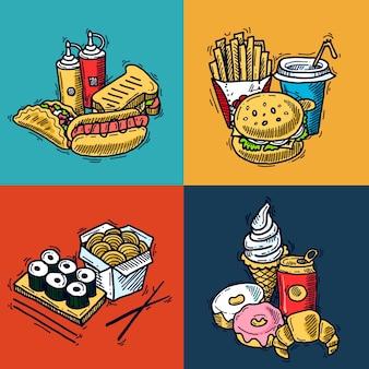 Fast-food-design-konzept