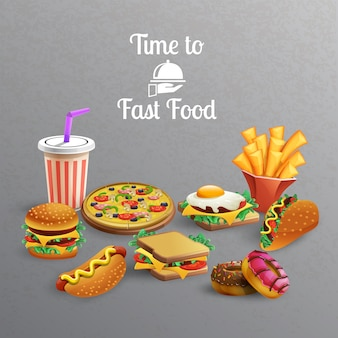 Fast-food-elementensammlung