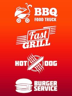 Fast-food-etiketten-sammlung