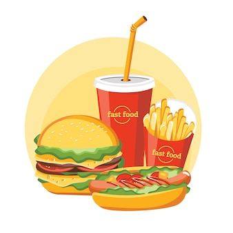 Fast-food-hamburger