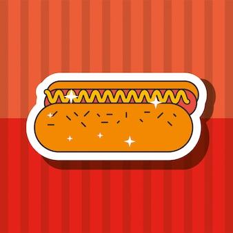 Fast food hot dog lecker ungesund