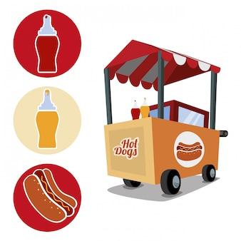 Fast-food-icons design