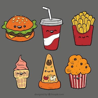 Fast food illustrationen