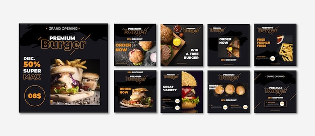Fast-food-instagram-post-sammlung
