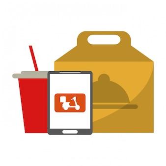 Fast-food-lieferung