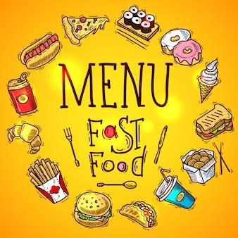 Fast-Food-Menü