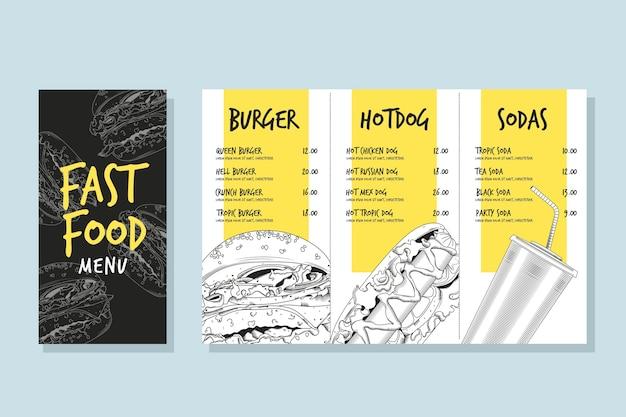 Fast-food-menüvorlage