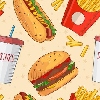 Fast food muster hintergrund