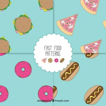 Fast-food-muster sammlung
