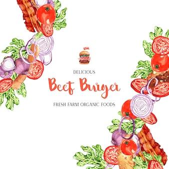 Fast-food-restaurant menüvorlage für dekor restaurant look