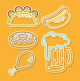 Fast-food-set symbole