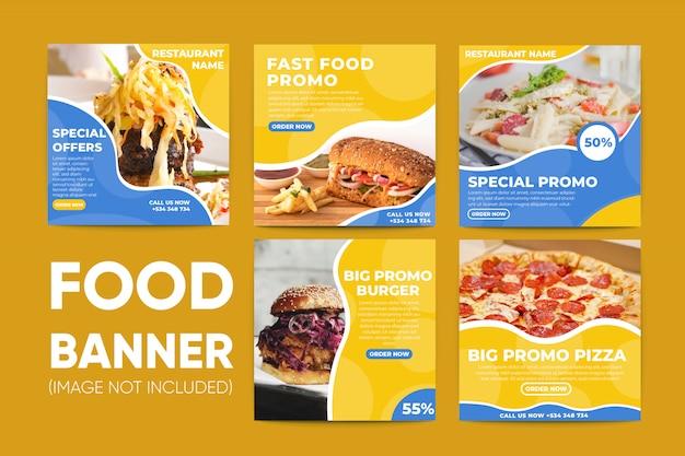 Fast-food-social-media-beitragsvorlage sammlung