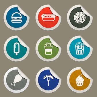 Fast-food-symbole für websites und benutzeroberfläche