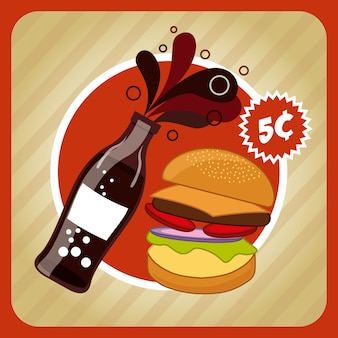 Fast-food- und soda-design