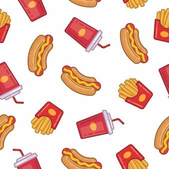 Fast food und soda muster