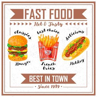 Fast-food-vorlage