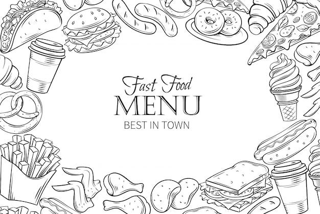 Fast-food-vorlagenrahmen