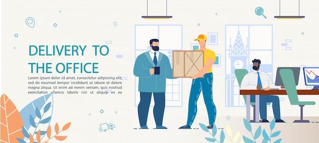 Fast goods, food, appliance lieferung ins büro