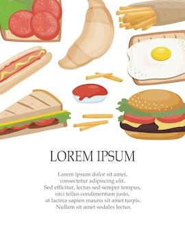 Fastfood zum mitnehmen