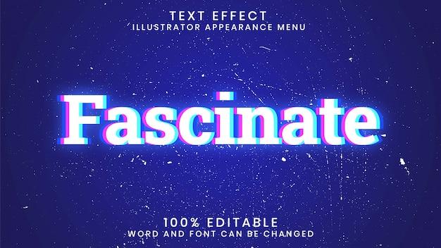 Faszinierende bearbeitbare leuchtende texteffekt-stilvorlage