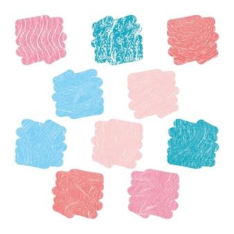 Faszinierende trendige zehn farben