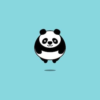 Fat panda fliegen vektor-illustration
