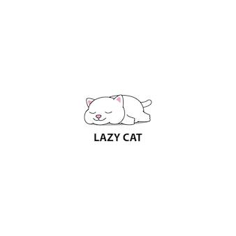 Faule fette schlafende vektorillustration der katze