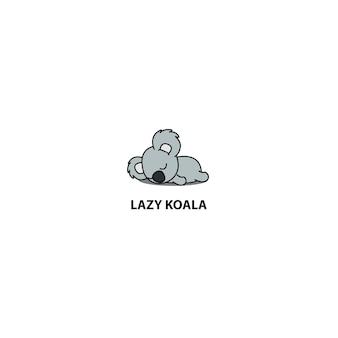 Faule koala schlafende ikone
