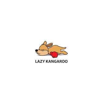 Faule schlafende ikone des kängurus