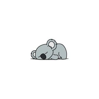 Fauler koala schlafender cartoon