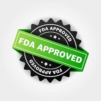 Fda-genehmigtes bannerdesign über weiß