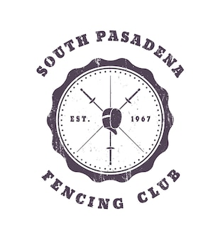 Fechtclub grunge vintage emblem
