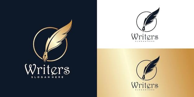 Feder tinte logo schriftsteller schreiben download