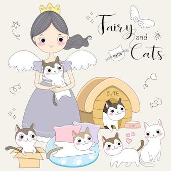 Fee und ihre kleine katze