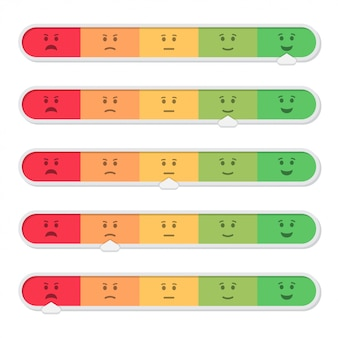 Feedback des kunden mit emoticon im flachen stil