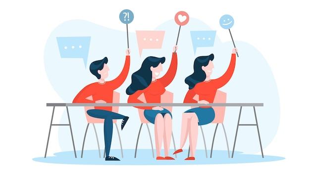 Feedback-konzept. hinterlasse feedback und kommentiere inhalte
